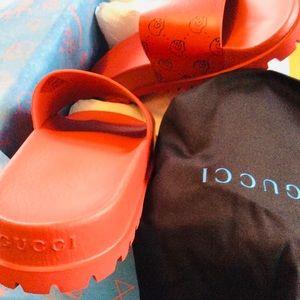 70666e7feae1 Gucci Shoes - NEW W Box Gucci Ghost Red Lux Slides RARE